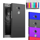 Rubberized Armour Hard Shell Case Cover + Screen + Stylus For Sony Xperia L2 L 2