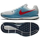 Nike Air Zoom Pegasus 34 880555-016 Vast Grey/Storm/Blue/Red Men's Running Shoes