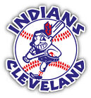 Cleveland Indians MLB Baseball Combo Logo Car Bumper Sticker - 9'', 12'' or 14'' on Ebay
