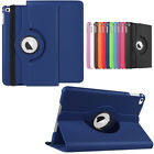 For iPad 6th Generation 9.7 Model Leather Smart Cover 360 Rotating Stand Case