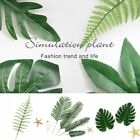 20Pc Artificial Palms Fern Turtle Leaves Plastic Silk Fake Plant Leaf Home Decor