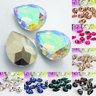 UK_ Wholesale 10 Pcs Teardrop Resin Rhinestones Beads 18 X 25mm DIY Pendant Chea