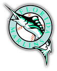 Florida Marlins MLB Baseball Fish Car Bumper Sticker Decal - 3'', 5'' or 6'' on Ebay
