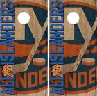 New York Islanders Cornhole Skin Wrap NHL Hockey Vintage Art Design Vinyl DR142 $39.99 USD on eBay