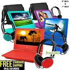 7 9 portable personal dvd player w headphones kids adult ematic epd707 epd909