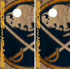 Buffalo Sabres Cornhole Skin Wrap NHL Hockey Custom Team Logo Vinyl DR168 $39.99 USD on eBay