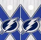 Tampa Bay Lightning Cornhole Skin Wrap NHL Hockey Logo Wood Design Vinyl DR187 $59.99 USD on eBay