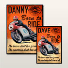 Personalised Isle of Man TT Vintage Retro Sign Wall Art Wooden Plaque.