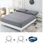 "Earthing Grounding Fitted Sheet Bedspread Queen/King Big Size 60""-80"" Gray Color image"