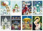 Caltime Small Advent Calendar Cards with envelope 24 doors 175 x 120 mm