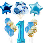 Blue Theme Party Boy Birthday Baby Shower Balloon Banner Pap