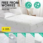 "Mattress Cover Protector Fully Fitted Pad Stretches Up To 16"" Deep Waterproof US image"