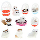 Cute Basket Husky Plush Animal Cat/Dog/Fox Figures Toy Home Ornament Collection