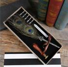 Feather Writing Fountain Caligraphy Dip Pen Quill Stamp 5Nibs Box Set Xmas Gift