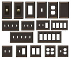 Внешний вид - Bronze Wallplate Hampton Bay Metallic Steel Switch Outlet Plate Wall Gang Cover