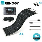 Renogy Well Flexible 300W 12V Solar Panel Marine Kit Off Grid Battery Charger