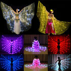 USA Led isis wings rechargeable belly dance dancer show 126 lights up