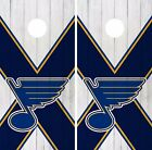 St. Louis Blues Cornhole Skin Wrap NHL Hockey White Wood Design Vinyl DR222 $39.99 USD on eBay