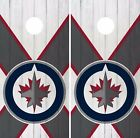 Winnipeg Jets Cornhole Skin Wrap NHL Hockey White Wood Design Vinyl Decal DR228 $39.99 USD on eBay