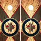 Winnipeg Jets Cornhole Skin Wrap NHL Hockey Wood Design Vinyl Decal DR229 $39.99 USD on eBay