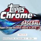 2018 TOPPS CHROME PRISM REFRACTOR PARALLEL SINGLES U-PICK COMPLETE YOUR SET