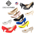 DREAM PAIRS LUVLY Womens Bridal Slip On Wedding Party Dress Low Heel Pumps Shoes