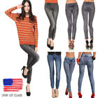 Womens Skinny Pants Jeggings Stretchy Slim Leggings Jeans Pencil Tight Trousers