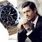 Luxury Men's Full Steel Shock Resistant Wristwatches Buckle Wrist Band Analogue