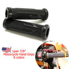 "CNC Aluminum Rubber Gel Hand Grips Bike Grips For 7/8"" Handle Bar Universal $7.45 USD on eBay"