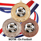 Man of the Match Medals & Ribbons, Football / Sports Medals Packs 10, 25, 50