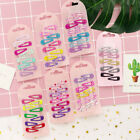 10xMini Printing Cartoon girls Hair grips BB Clips Kids Hairpin Accessories Ee
