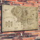 Lord Of The Rings Map Of Middle Earth Printed Canvas Picture Multiple Sizes