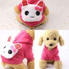 Small Pet Dog Warm Costume Apparel Pet Dog Cat Puppy Hoodie Sweater Coat Winter