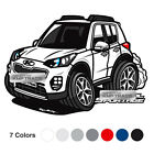 Graphic Decal Character Stickers 8 X 16inch 1Sheet for KIA 2017-2020 Sportage QL