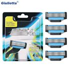 Giulietta Razor Blade For Men 4pcs lot Original 4 Layer Stainless Steel Manual