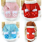 Small Dog Puppy Warm Clothes Pet Costume Coat Apparel XMAS THEME for Schnauzer
