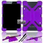 """For Various 7"""" 8"""" Tablet Bumper Silicone Stand Cover Case + Stylus"""