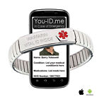 Warfarin Alert Bracelet Medical ID Awareness ICE SOS Emergency Phone Access SMS