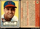 1952 Topps #189 Pete Reiser Cream Back Indians FAIR