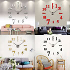 Modern DIY Large Wall Clock 3D Mirror Surface Sticker Home Decor Art Design Hot