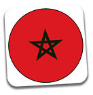World Cup 2018 Football Shirt & Flag Themed Drink Beer Coasters - Team Morocco