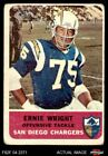 1962 Fleer #83 Ernie Wright Chargers GOOD $5.5 USD on eBay