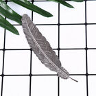 antique leaves feather shaped metal bookmark for books office school gift new.