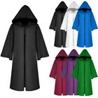 Kids Adult Hoodie Cape Cloak Robe Halloween Vampire Witch Wi