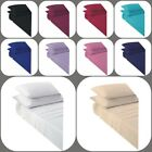Non Iron Percale Polycotton Soft Flat Sheet 18 Colour Pair of Pillowcase 4 Sizes