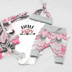 Baby Girl Clothes Little Sister Hat+Hair Band+T-shirt Romper+ Pants Outfits Set