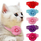 SALE Cute Cat Collar Pu Leather Puppy Collar Flower Small Dog Pet Neck For 8-18""