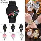 Fashion Womens Stainless Steel Leather Band Quartz Analog Sport Wrist Watch Hot image