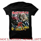 IRON MAIDEN THE NUMBER OF THE BEAST PUNK ROCK HEAVY METAL  MEN'S SIZES  T SHIRT image