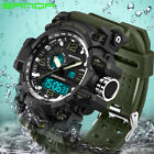 New Sanda Men Digital Wrist Watches LED Military Outdoor Sport Waterproof Watch image
